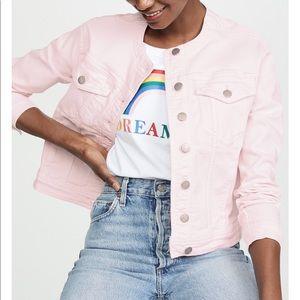 Rebecca Minkoff Baby Pink Denim Jacket
